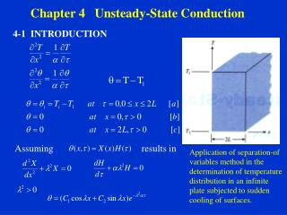 Chapter 4   Unsteady-State Conduction