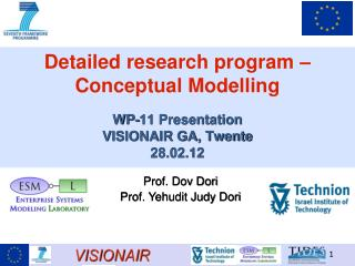 Detailed research program – Conceptual Modelling WP-11 Presentation  VISIONAIR GA, Twente 28.02.12