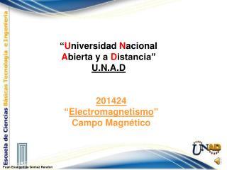 """201424 """" Electromagnetismo """" Campo Magnético"""
