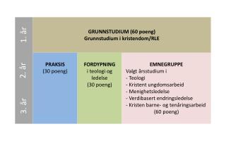 GRUNNSTUDIUM (60 poeng) Grunnstudium  i kristendom/RLE