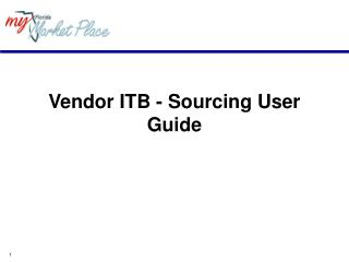Vendor ITB - Sourcing User Guide