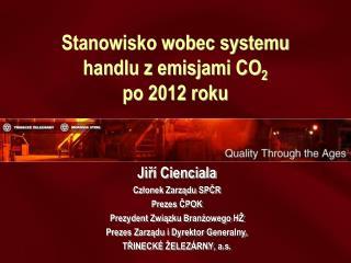 Stanowisko wobec systemu  handlu z emisjami CO 2  po 2012 roku