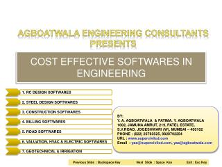 COST EFFECTIVE SOFTWARES IN ENGINEERING