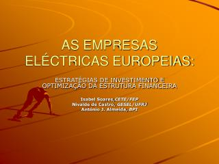 AS EMPRESAS ELÉCTRICAS EUROPEIAS: