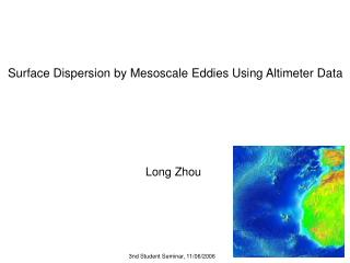 Surface Dispersion by Mesoscale Eddies Using Altimeter Data
