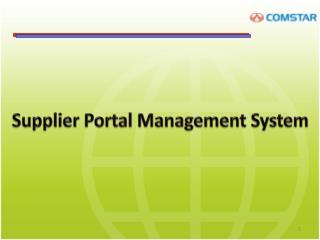 Supplier Portal Management System