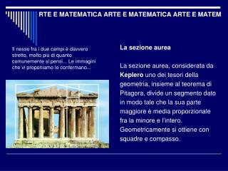 RTE E MATEMATICA ARTE E MATEMATICA ARTE E MATEM