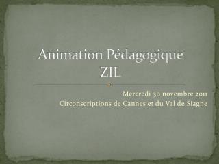 Animation Pédagogique ZIL