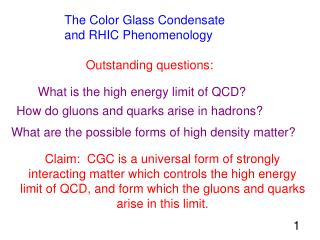 The Color Glass Condensate and RHIC Phenomenology