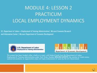 Module 4: Lesson 2 Practicum Local Employment Dynamics