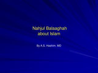 Nahjul Balaaghah about Islam