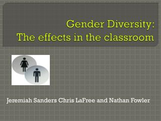 Gender Diversity:  The effects in the classroom