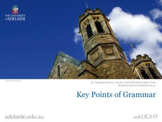 Key Points of Grammar