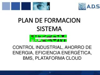 PLAN DE FORMACION SISTEMA