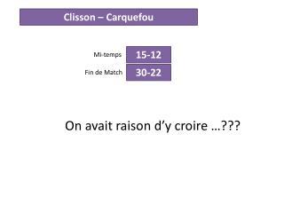 Clisson –  Carquefou