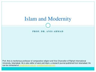 Islam and Modernity