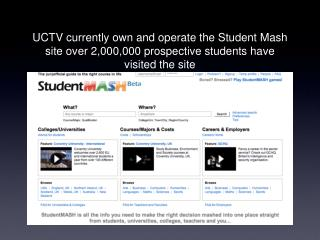 UCTV will launch the most advanced site of its kind matching students with courses
