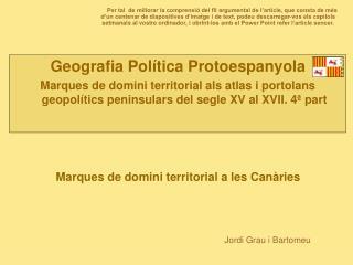 Geografia Política Protoespanyola
