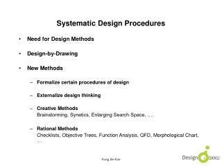 Systematic Design Procedures