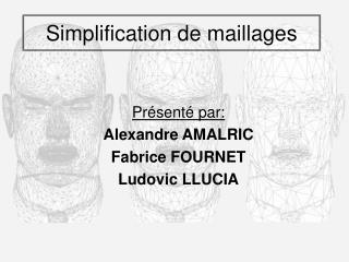 Simplification de maillages