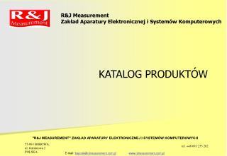 R&J Measurement Zakład Aparatury Elektronicznej i Systemów Komputerowych