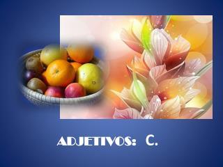 ADJETIVOS: C.