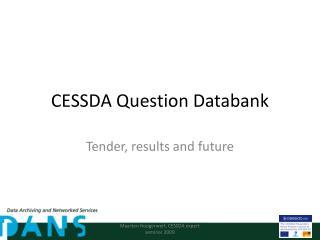 CESSDA Question Databank