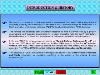 INTRODUCTION & HISTORY