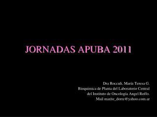 JORNADAS APUBA 2011