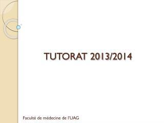TUTORAT 2013/2014