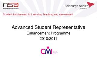 Advanced Student Representative Enhancement Programme 2010/2011