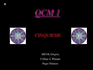 QCM 1