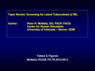 Tables & Figures McNally.VHJOE.TR.TB.2010.N0.3