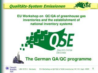 The German  QA/QC programme