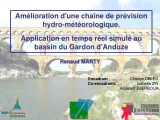 Amélioration d'une chaîne de prévision hydro-météorologique.