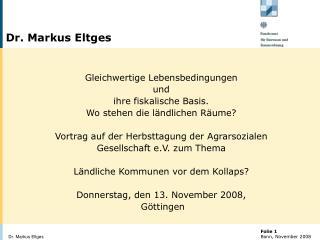 Dr. Markus Eltges