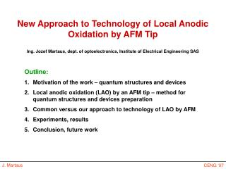 New Approach to Technology of Local Anodic Oxidation by AFM Tip