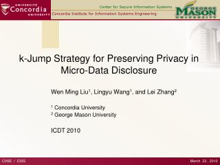 k-Jump Strategy for Preserving Privacy in  Micro-Data Disclosure