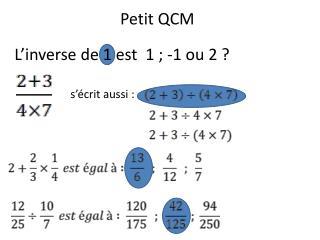 Petit QCM