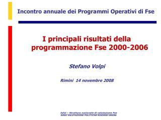 Incontro annuale dei Programmi Operativi di Fse