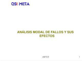 ANÁLISIS MODAL DE FALLOS Y SUS EFECTOS