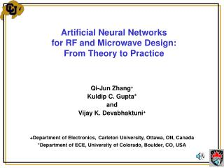 Artificial Neural Networks for RF and Microwave Design: From Theory to Practice