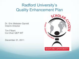 Radford University's Quality Enhancement Plan