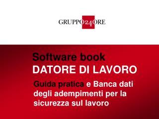 Software book DATORE DI LAVORO