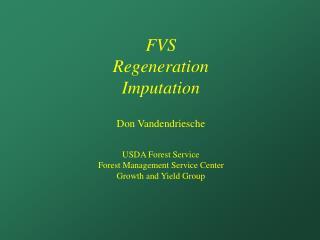FVS Regeneration