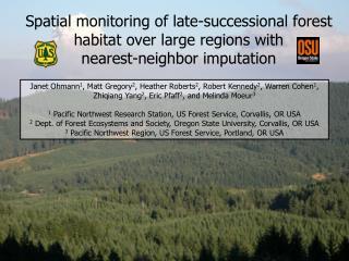 Needs for regional vegetation information