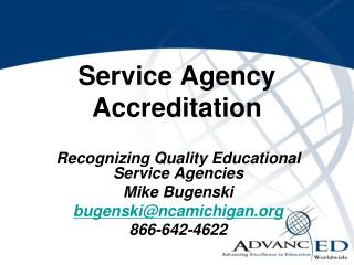 Service Agency Accreditation