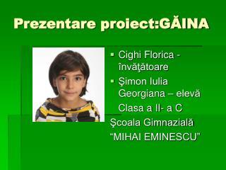 Prezentare proiect:GĂINA