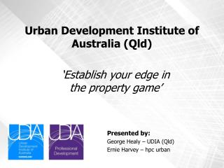 Urban Development Institute of Australia (Qld)
