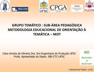 Clara  Amelia  de Oliveira Dra. Em Engenharia de Produção UFSC